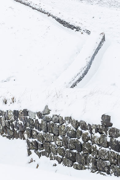 Hadrian's Wall in winter